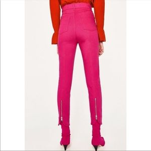 Zara Hot Pink High Rise Skinnies